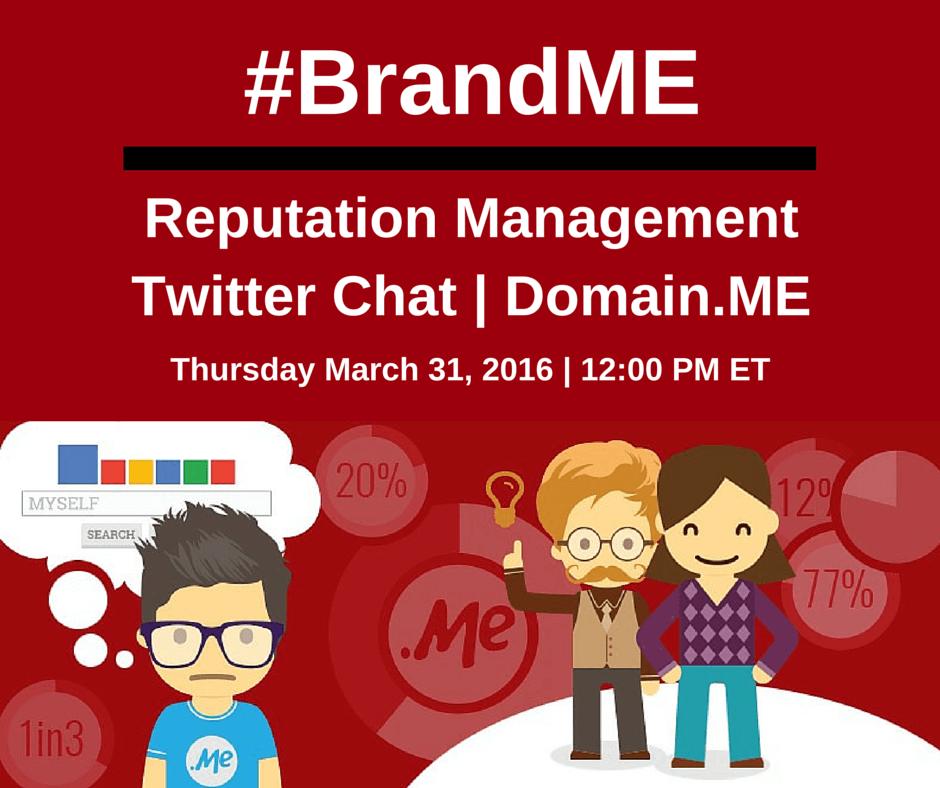 #BrandME Twitter Chat