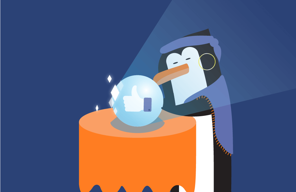 PPC penguin fortune teller | Four Dots