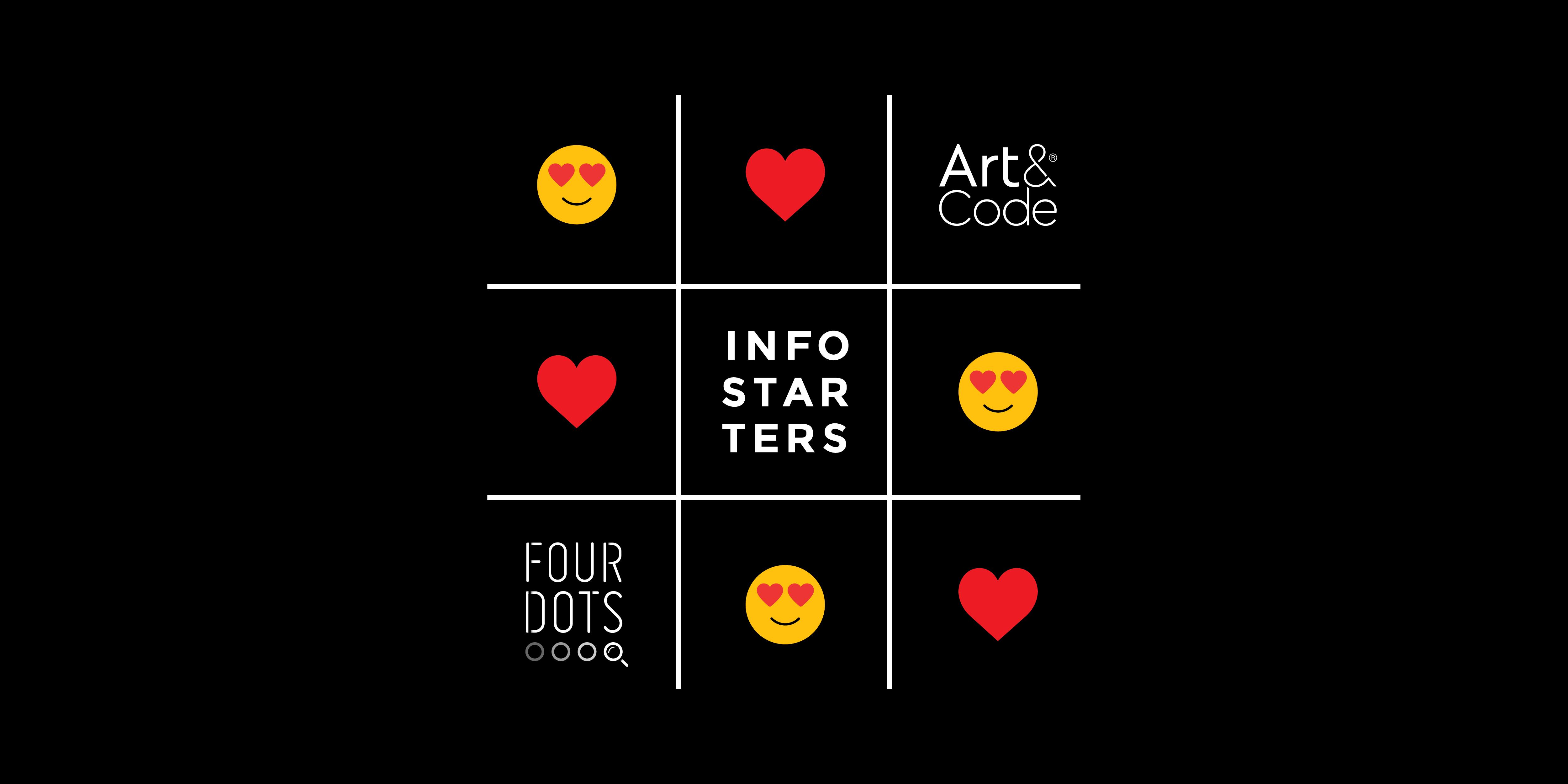 Featured image Infostarters & Art&Code | Four Dots