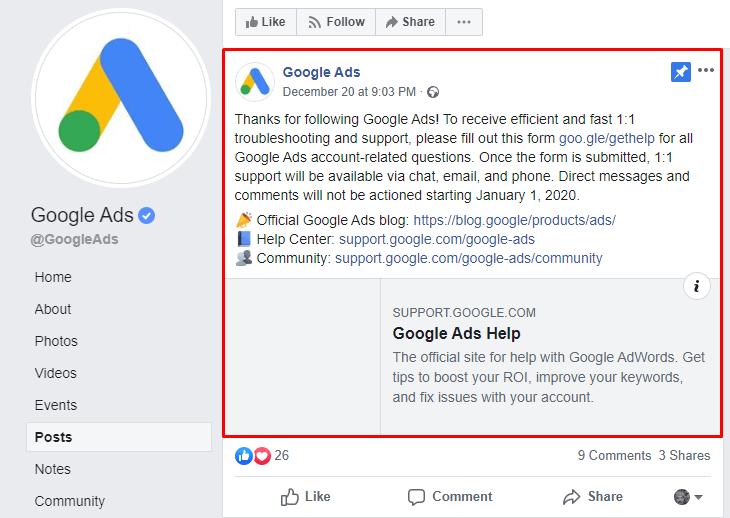 Google Ads Announcement   Four Dots