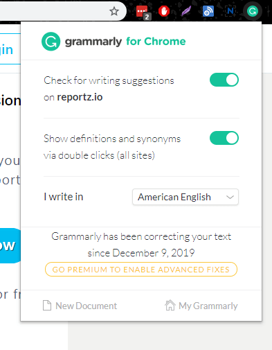 Grammarly for Chrome | Four Dots