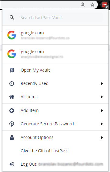 LastPass: Free Password Manager | Four Dots