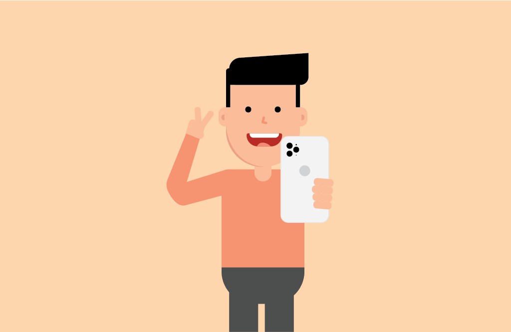 Man taking a selfie | Four Dots