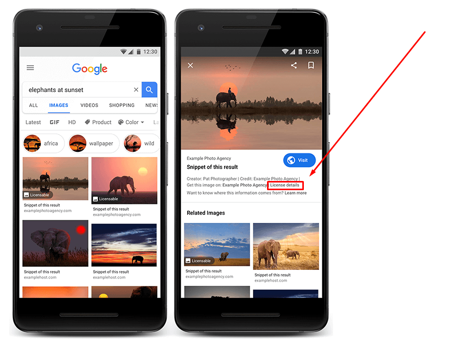 Google to Start Highlighting Image Licensing Information | Four Dots