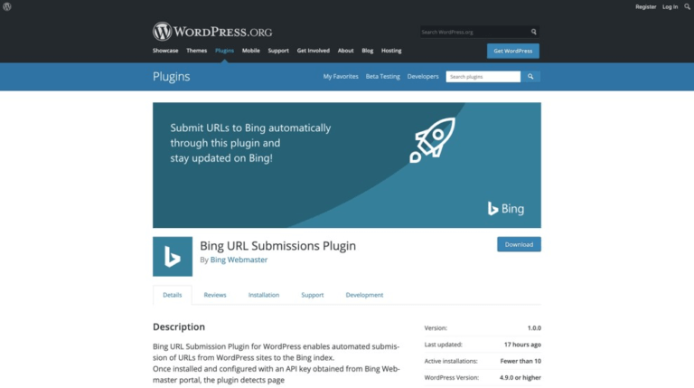 This New Bing WordPress Plugin Indexes Pages Immediately  After Publishing | Four Dots