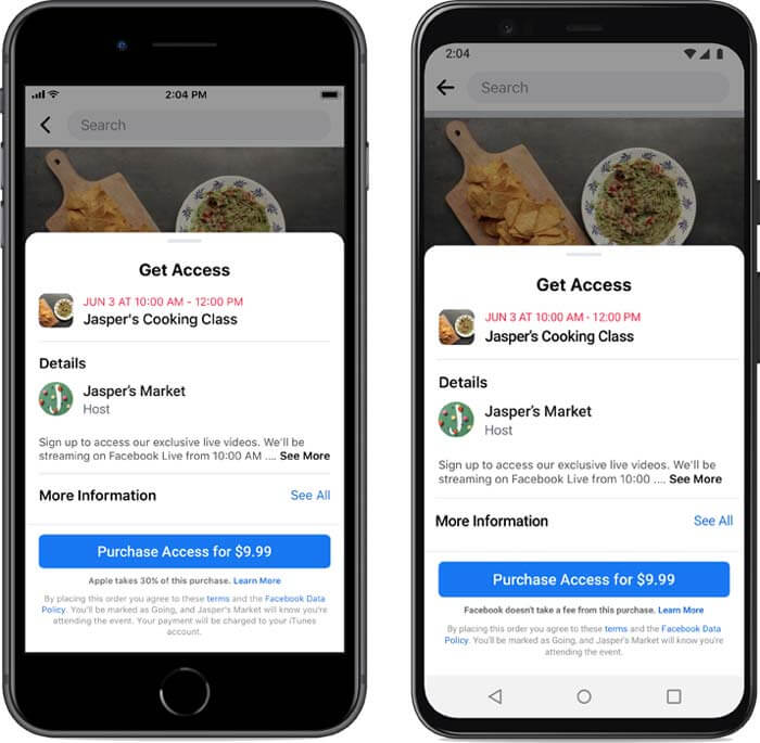 Facebook Announces a New Way for SMEs to Monetize Online Events | Four Dots