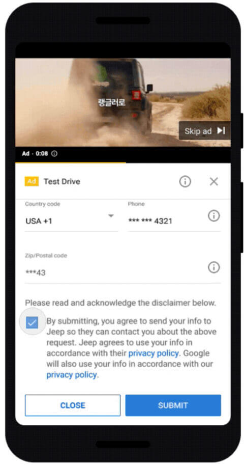 Google Ads Now Lets Advertisers Capture Leads From YouTube - Jeep | Four Dots