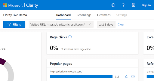 Microsoft Clarity - Free Website Analytics | Four Dots