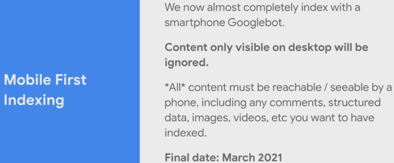 Digital Marketing Year in Review 2020 - google mobile-first index   Four Dots